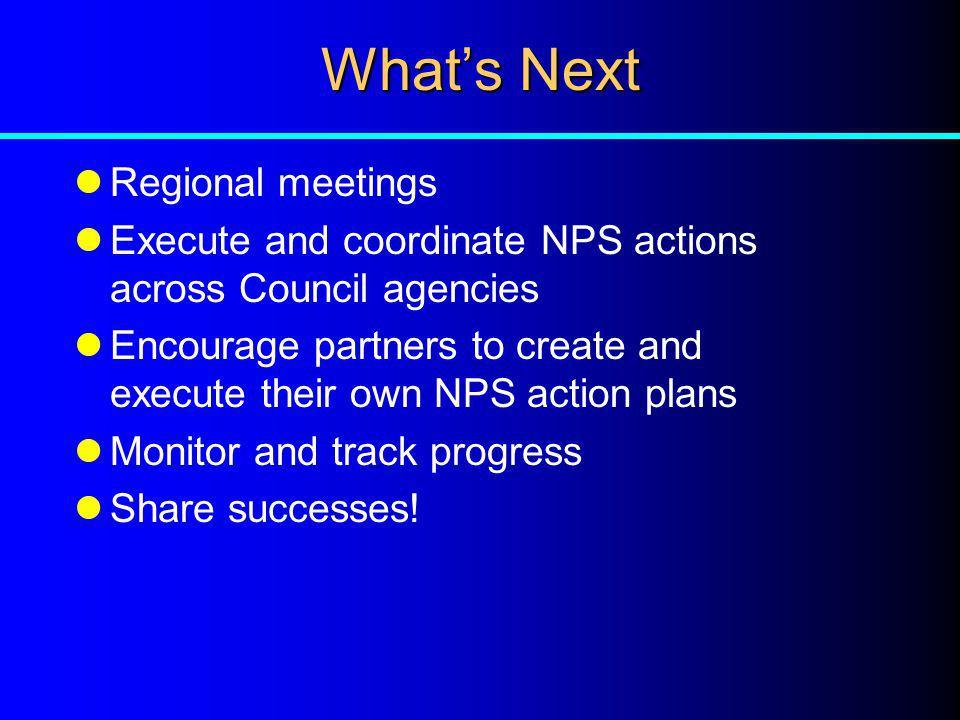 What's Next Regional meetings