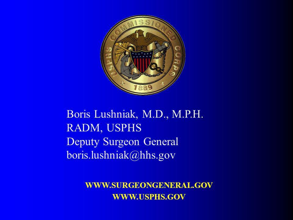 Deputy Surgeon General boris.lushniak@hhs.gov