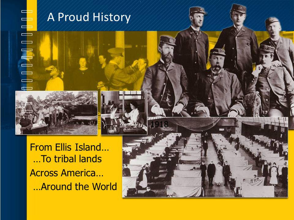 A Proud History From Ellis Island… …To tribal lands Across America…