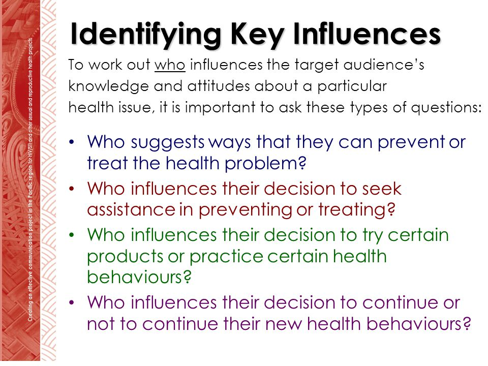 Identifying Key Influences