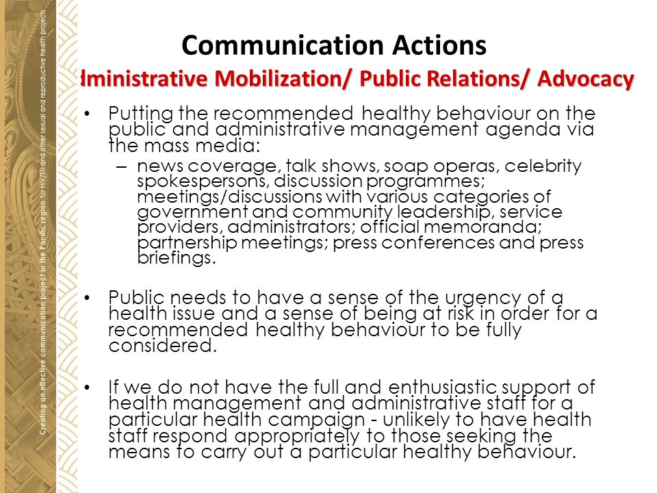 Communication Actions 1