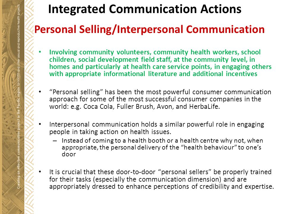 Integrated Communication Actions 4