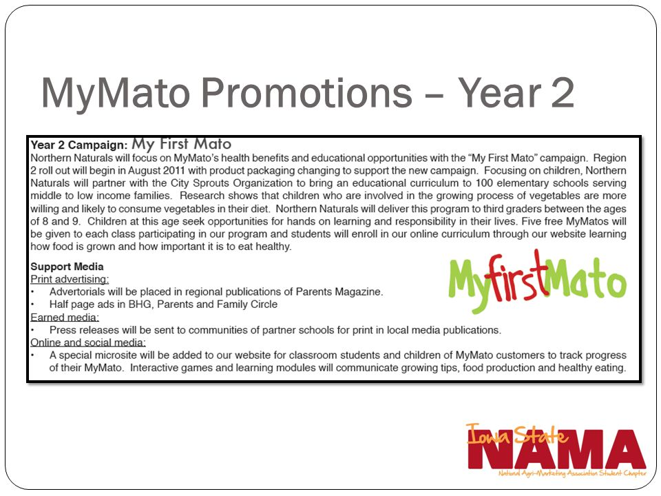 MyMato Promotions – Year 2