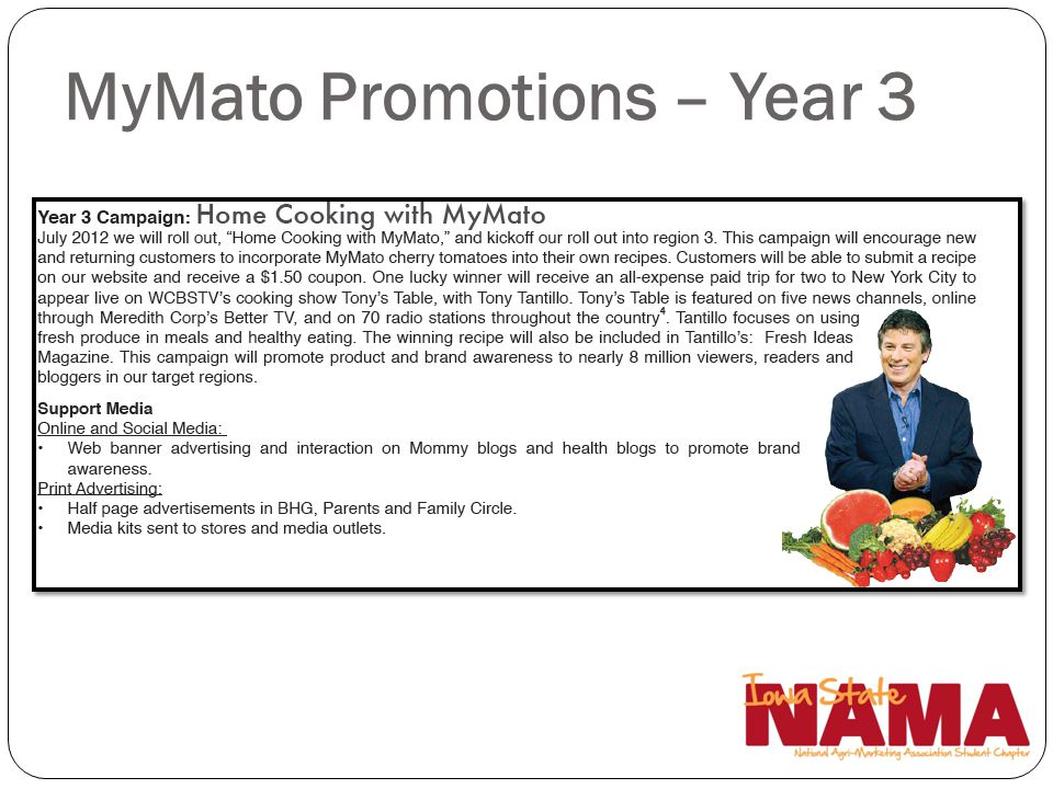 MyMato Promotions – Year 3