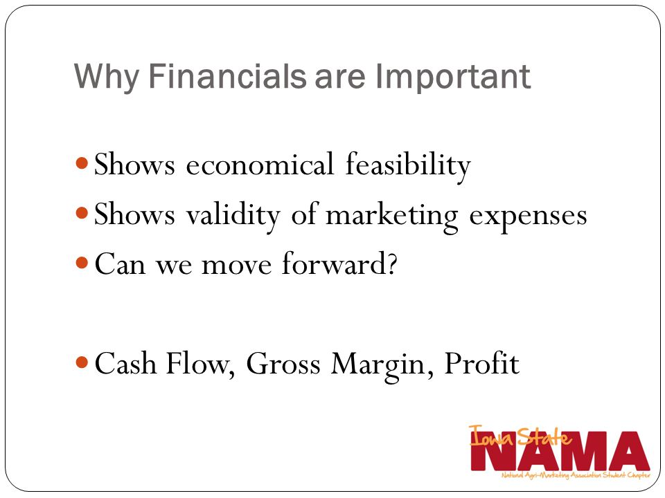 Why Financials are Important