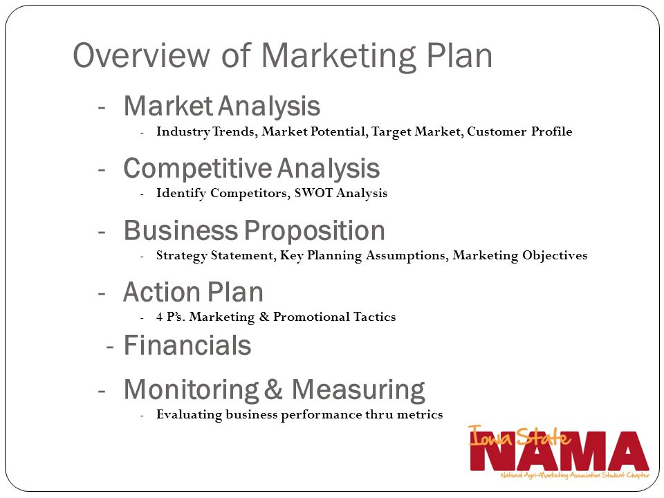 Overview of Marketing Plan
