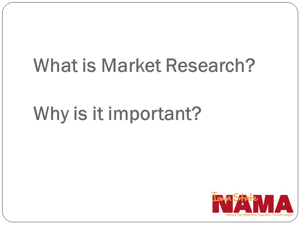 What is Market Research Why is it important