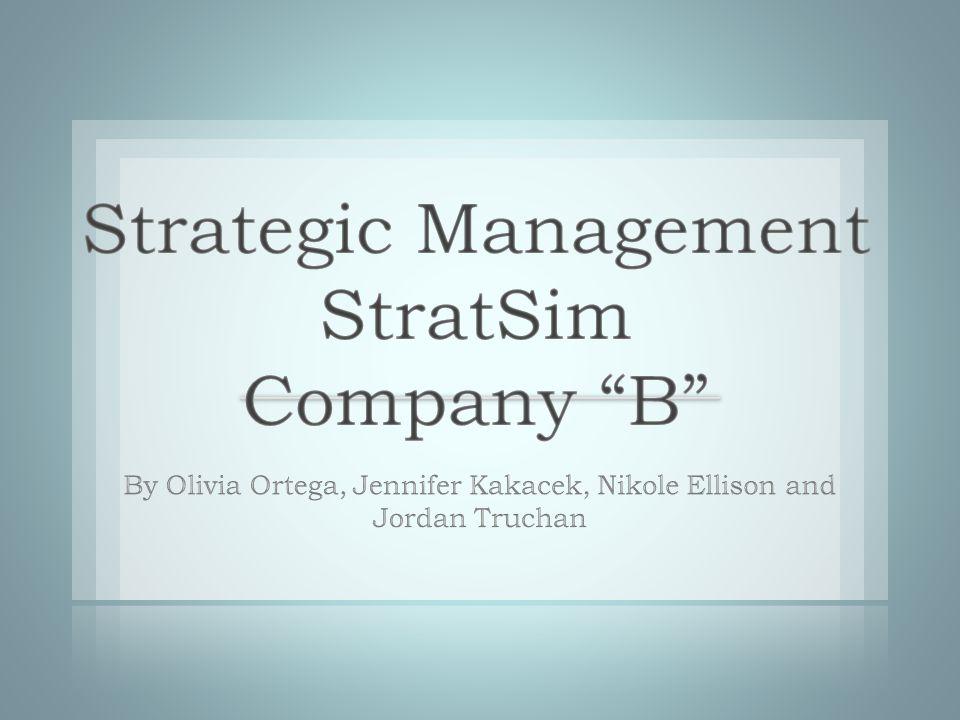 Strategic Management StratSim Company B