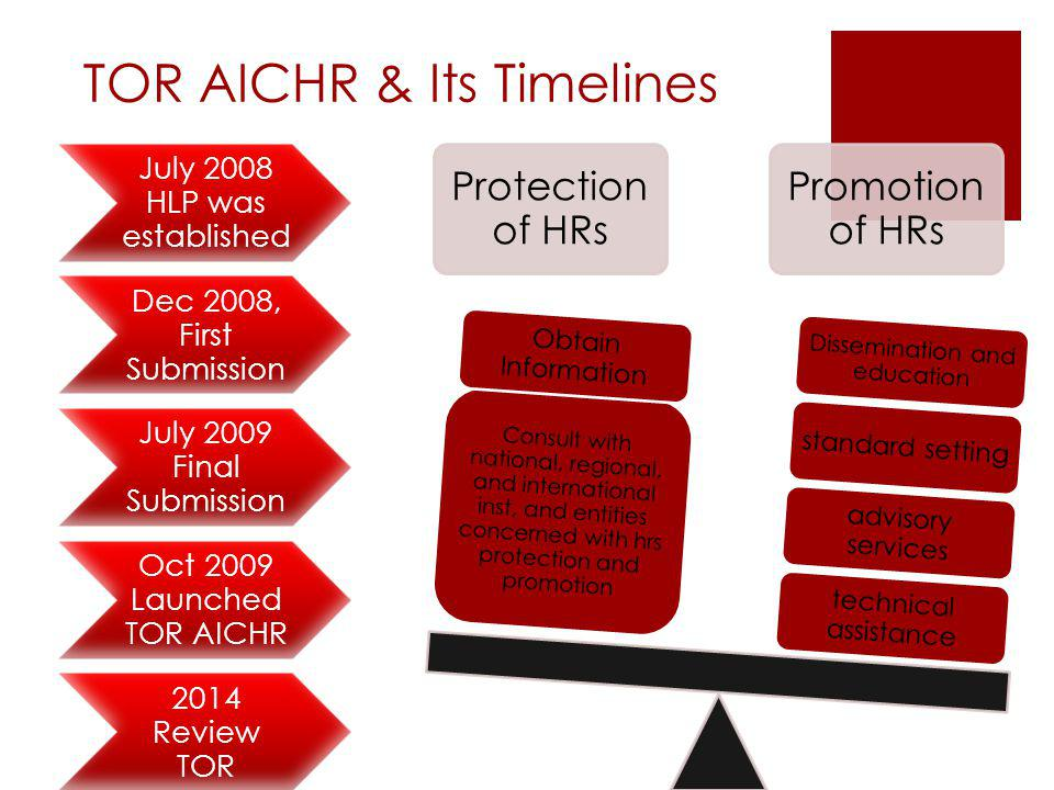 TOR AICHR & Its Timelines