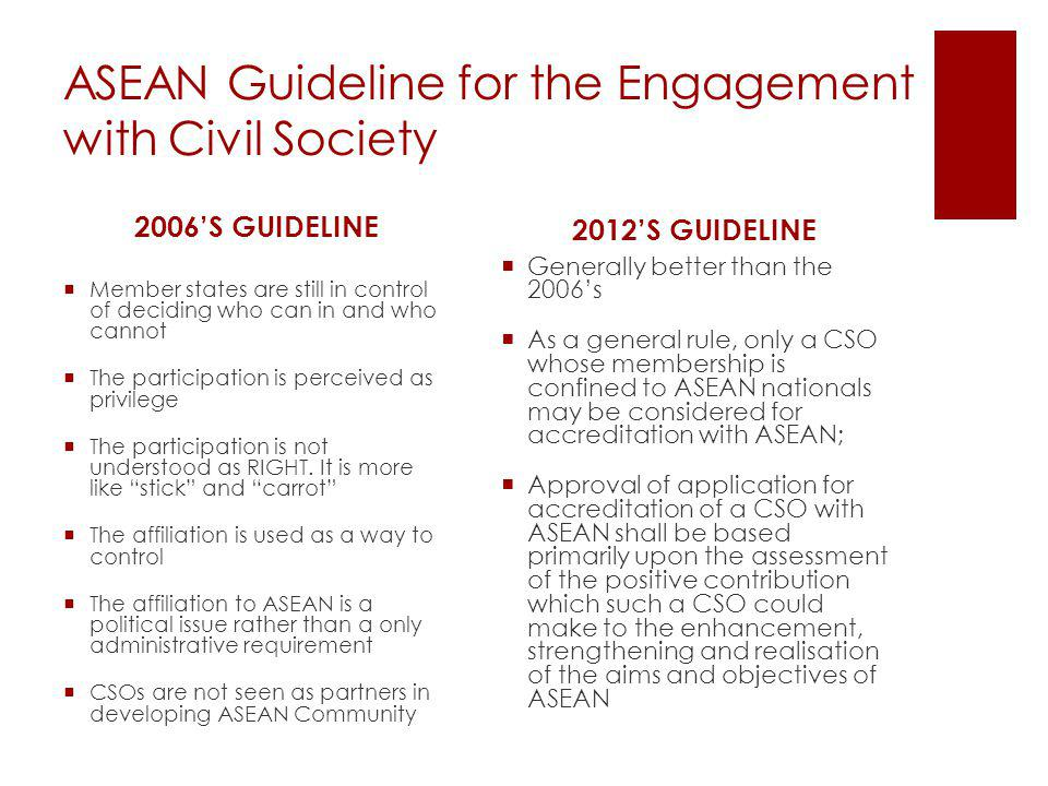 ASEAN Guideline for the Engagement with Civil Society