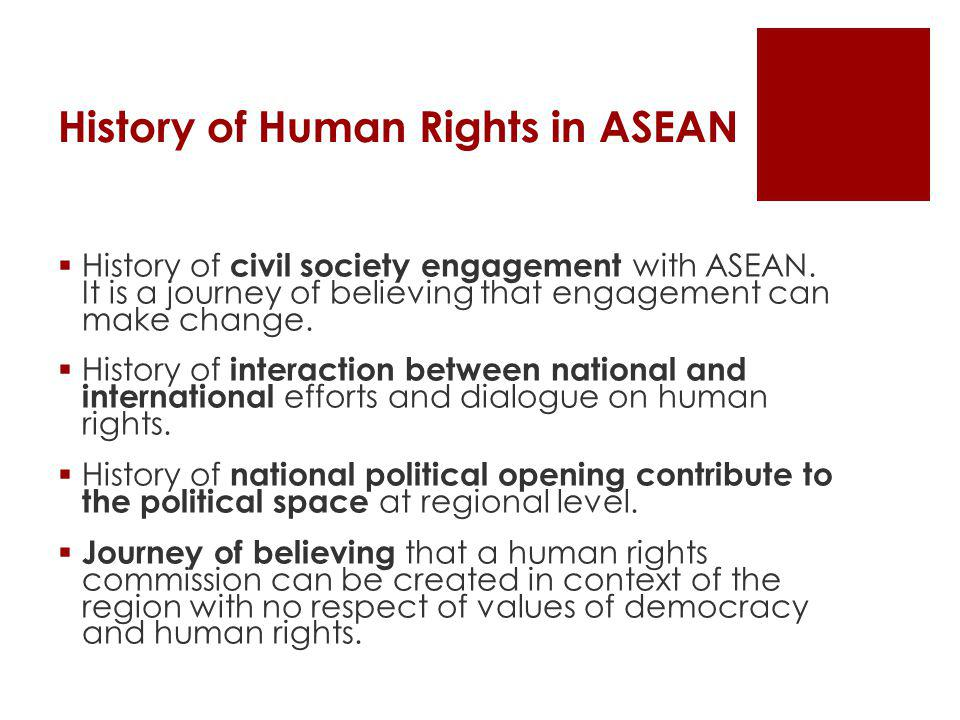 History of Human Rights in ASEAN