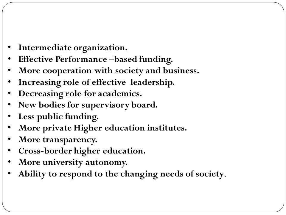 Intermediate organization.
