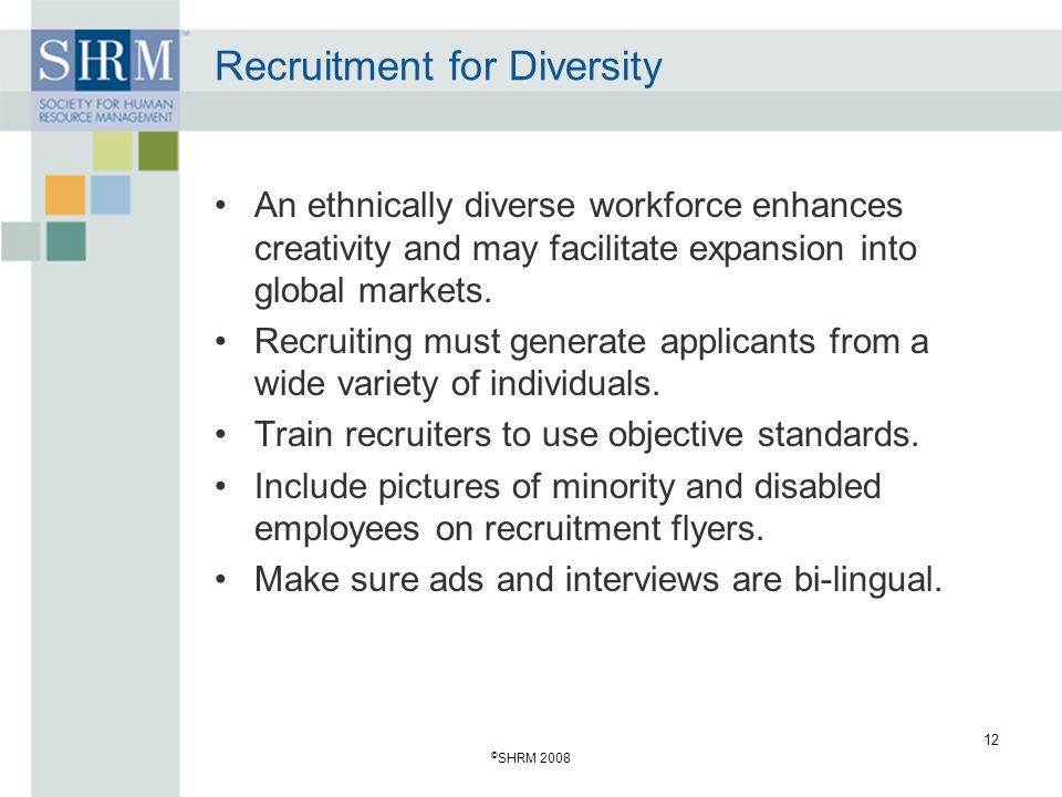 Recruitment for Diversity