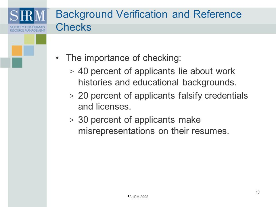 Background Verification and Reference Checks