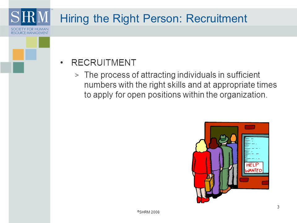 Hiring the Right Person: Recruitment