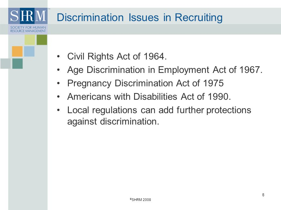 Discrimination Issues in Recruiting