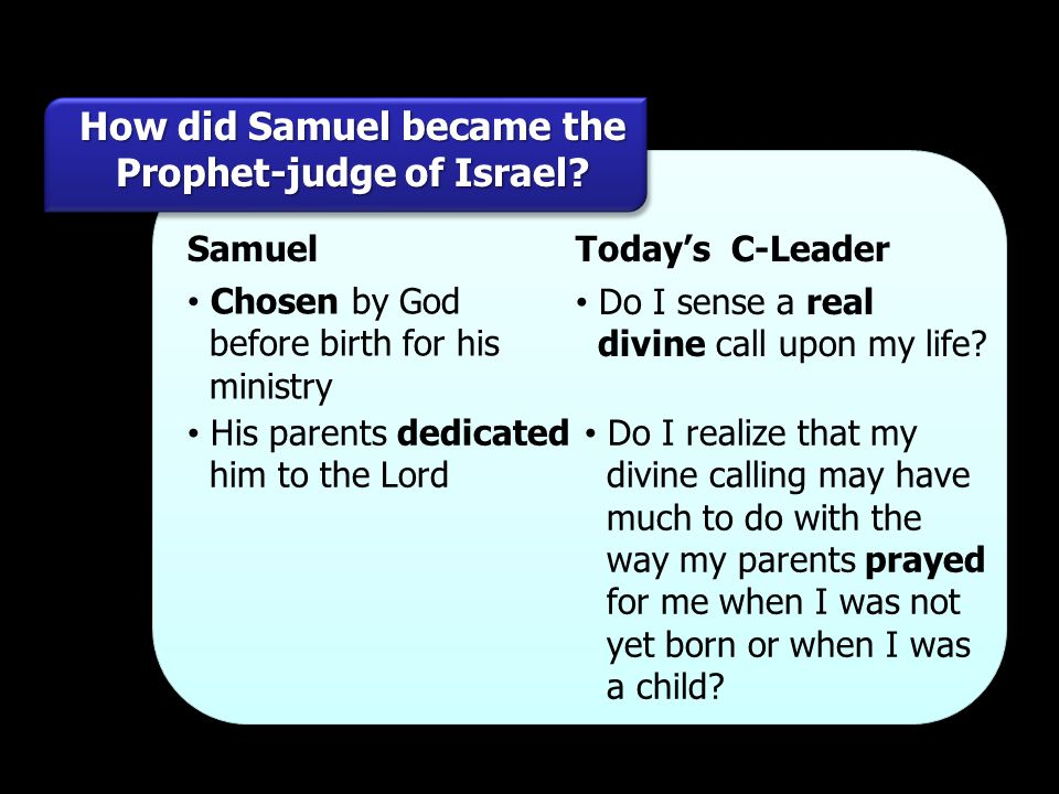 How did Samuel became the Prophet-judge of Israel
