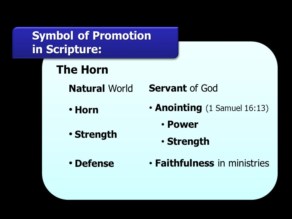 Symbol of Promotion in Scripture: The Horn Horn Strength Defense