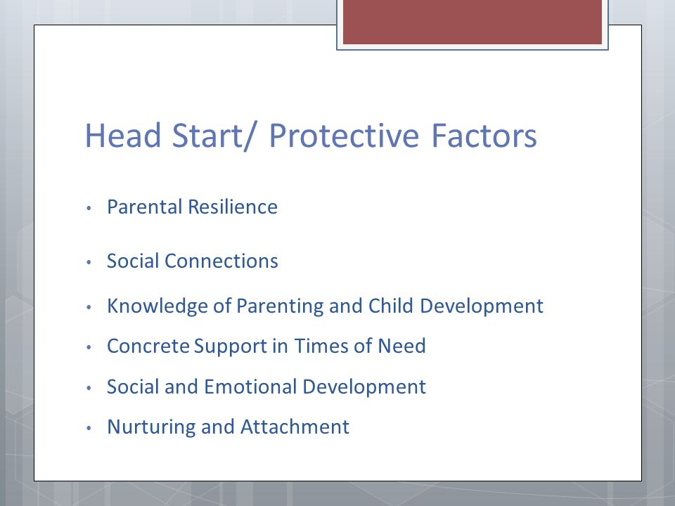 Head Start/ Protective Factors
