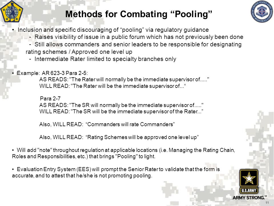 Methods for Combating Pooling