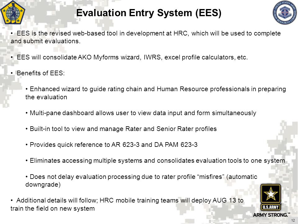 Evaluation Entry System (EES)
