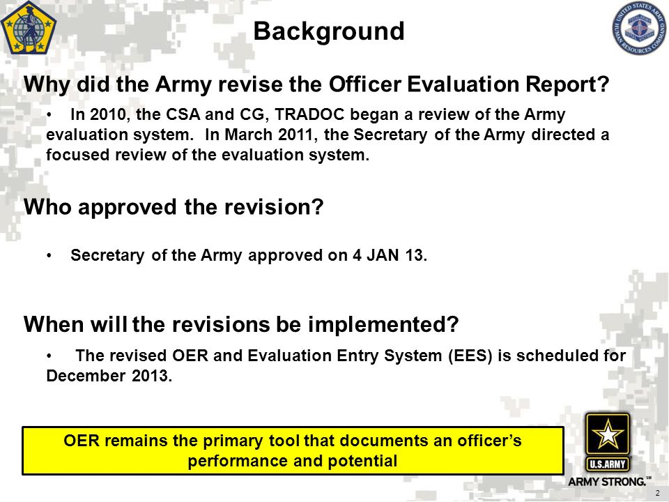 Revised Officer Evaluation Report - Ppt Video Online Download