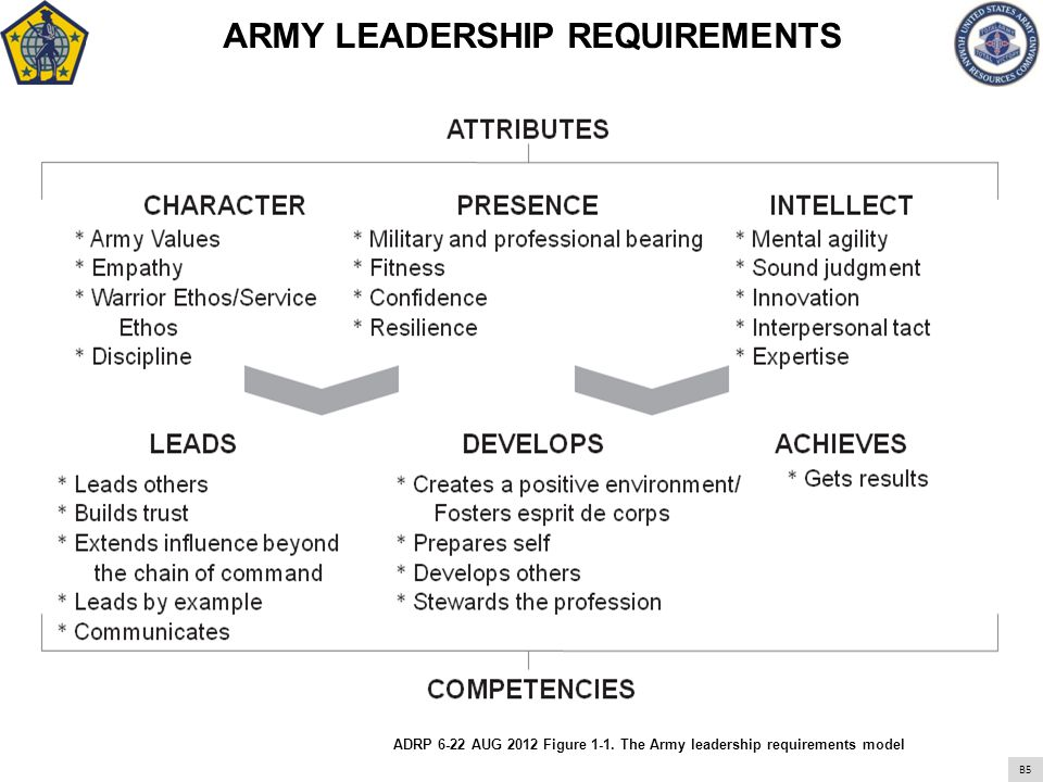 ARMY LEADERSHIP REQUIREMENTS