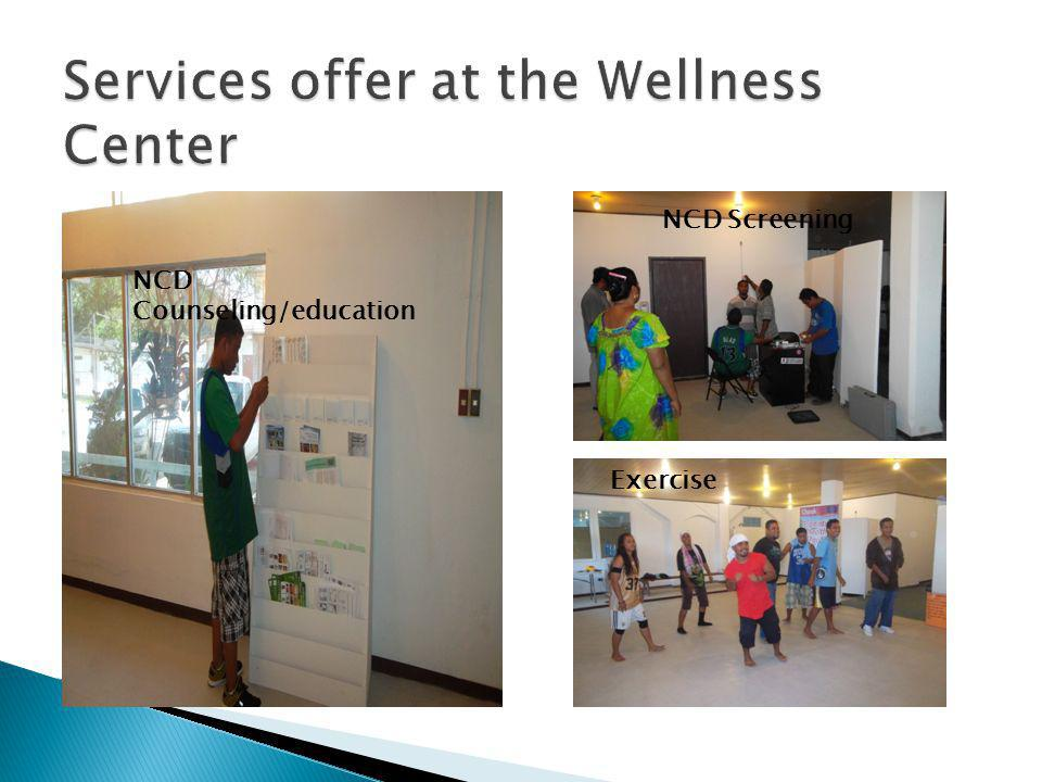 Services offer at the Wellness Center