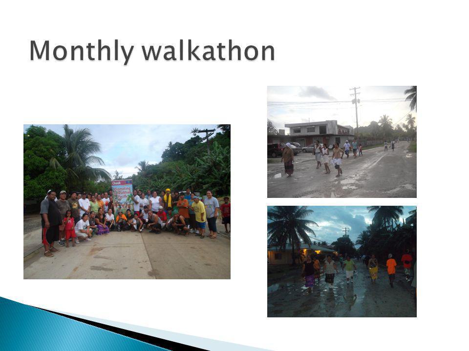 Monthly walkathon