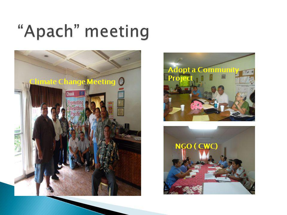 Apach meeting Adopt a Community Project Climate Change Meeting