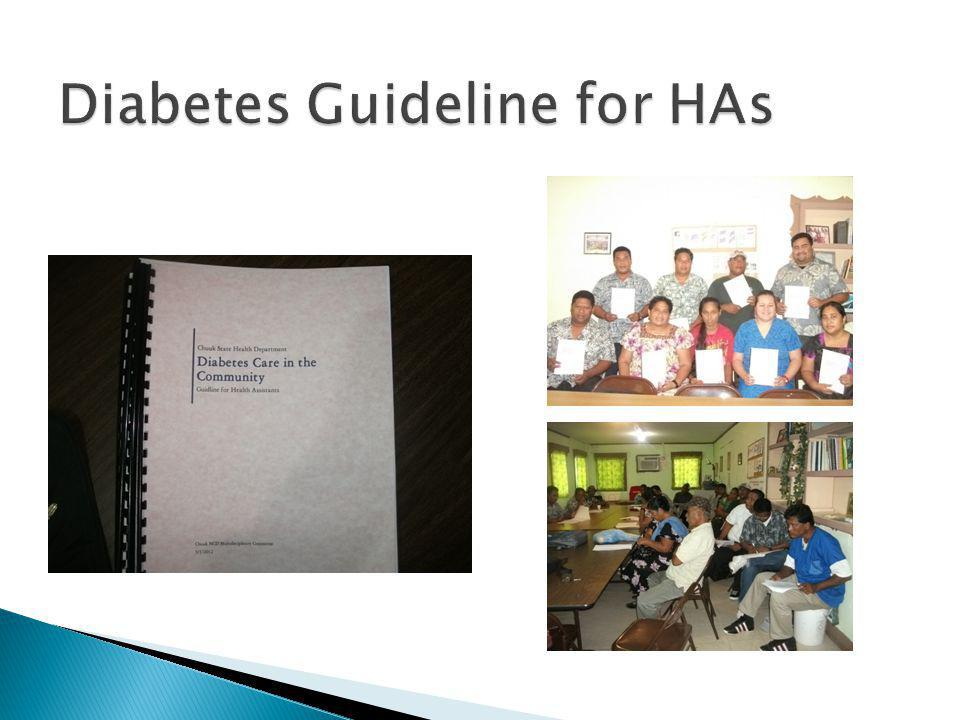 Diabetes Guideline for HAs