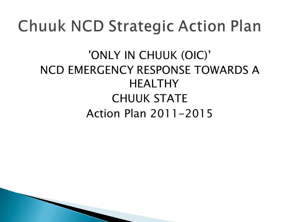 Chuuk NCD Strategic Action Plan