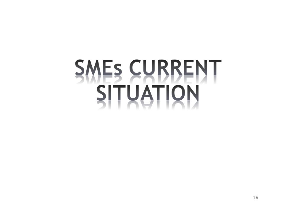 SMEs CURRENT SITUATION