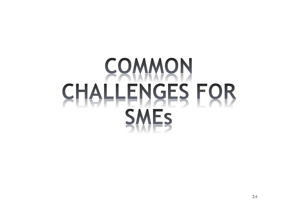 COMMON CHALLENGES FOR SMEs