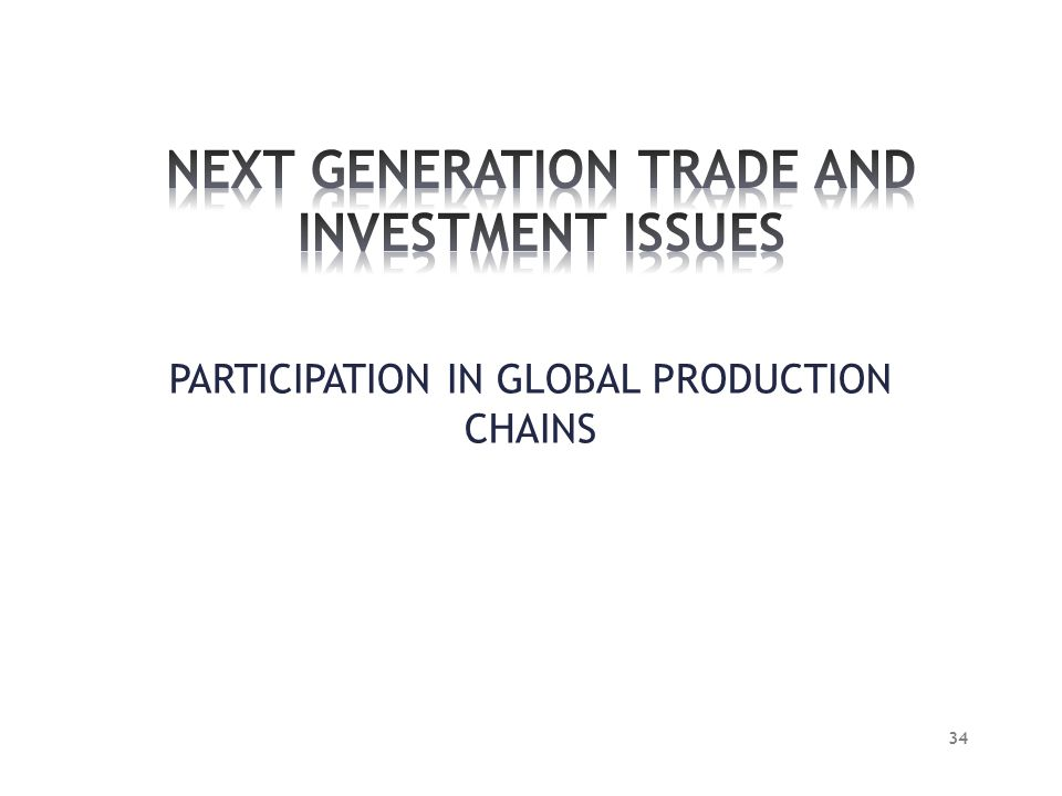 NEXT GENERATION TRADE AND INVESTMENT ISSUES
