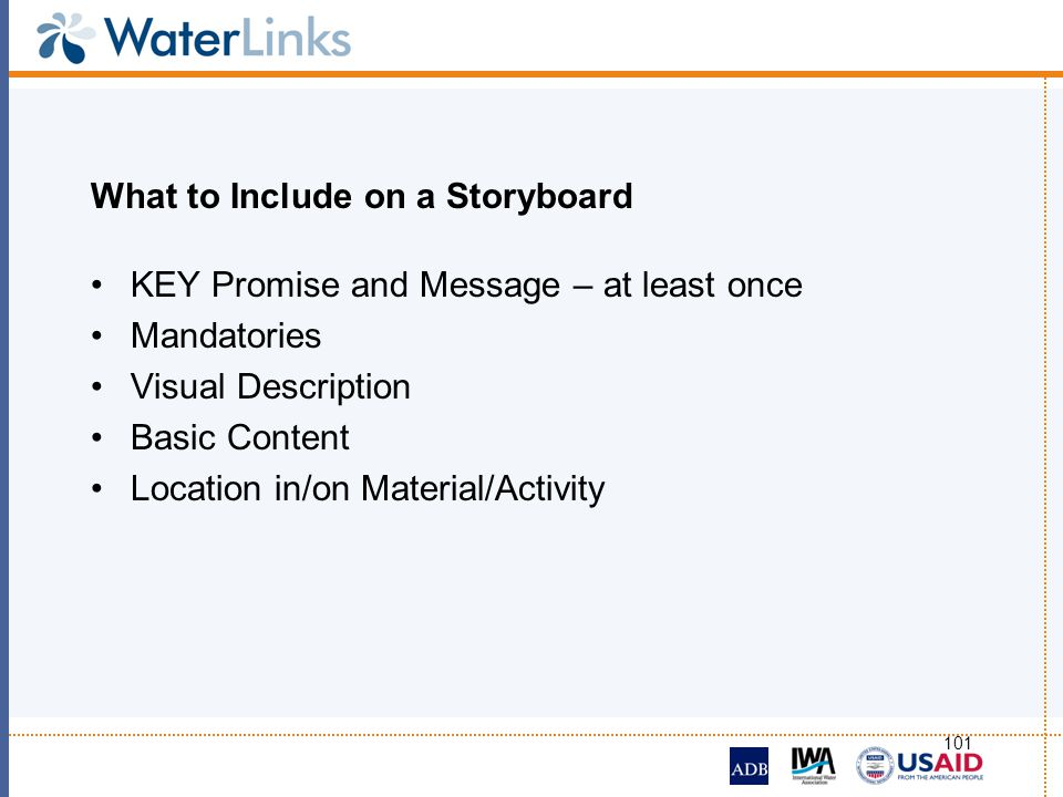 What to Include on a Storyboard