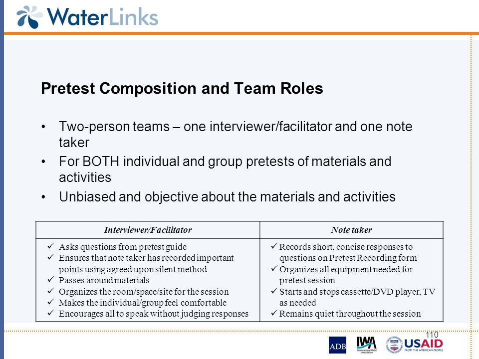 Pretest Composition and Team Roles