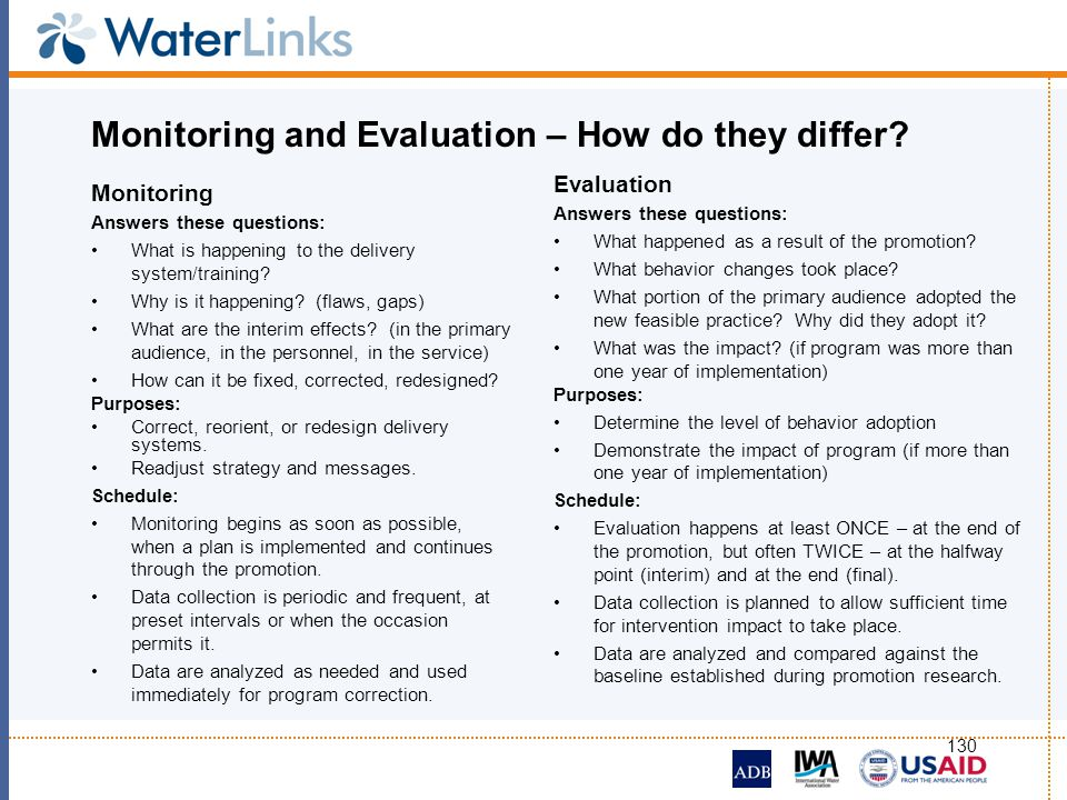 Monitoring and Evaluation – How do they differ