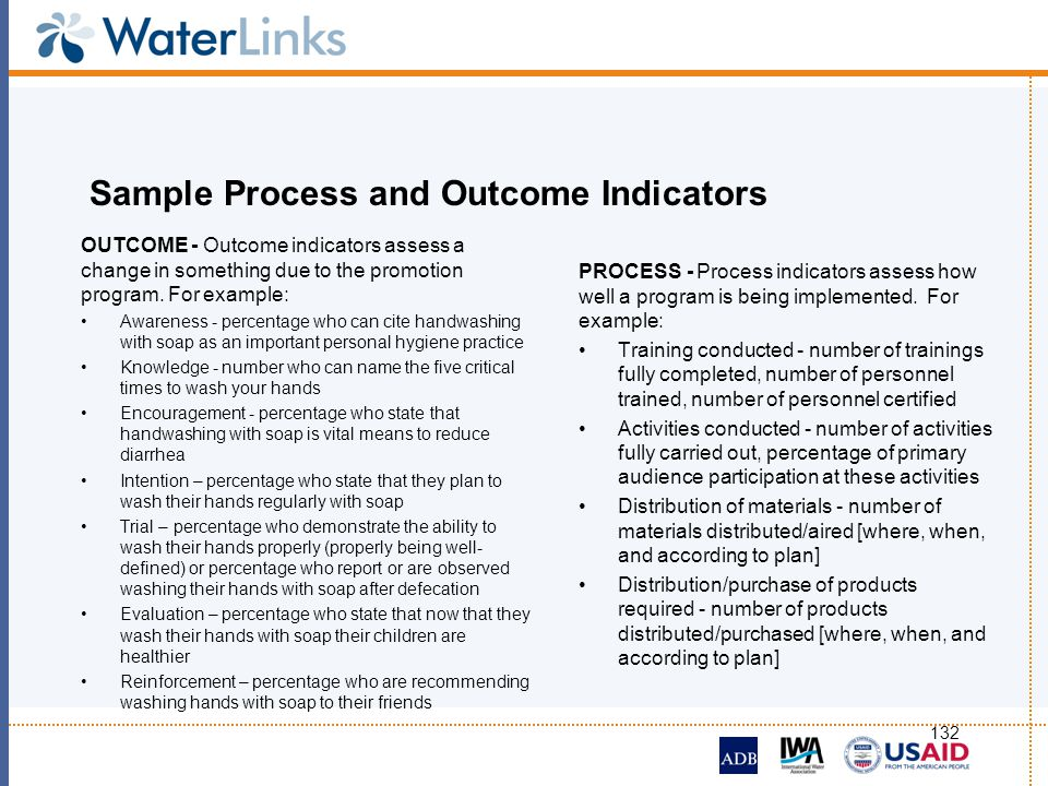 Sample Process and Outcome Indicators