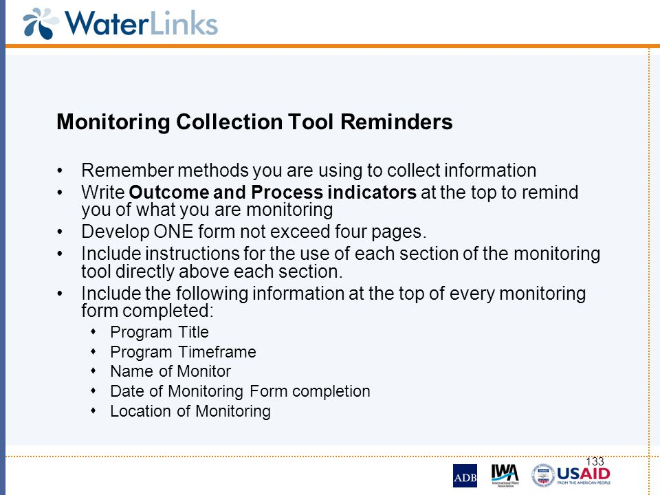 Monitoring Collection Tool Reminders