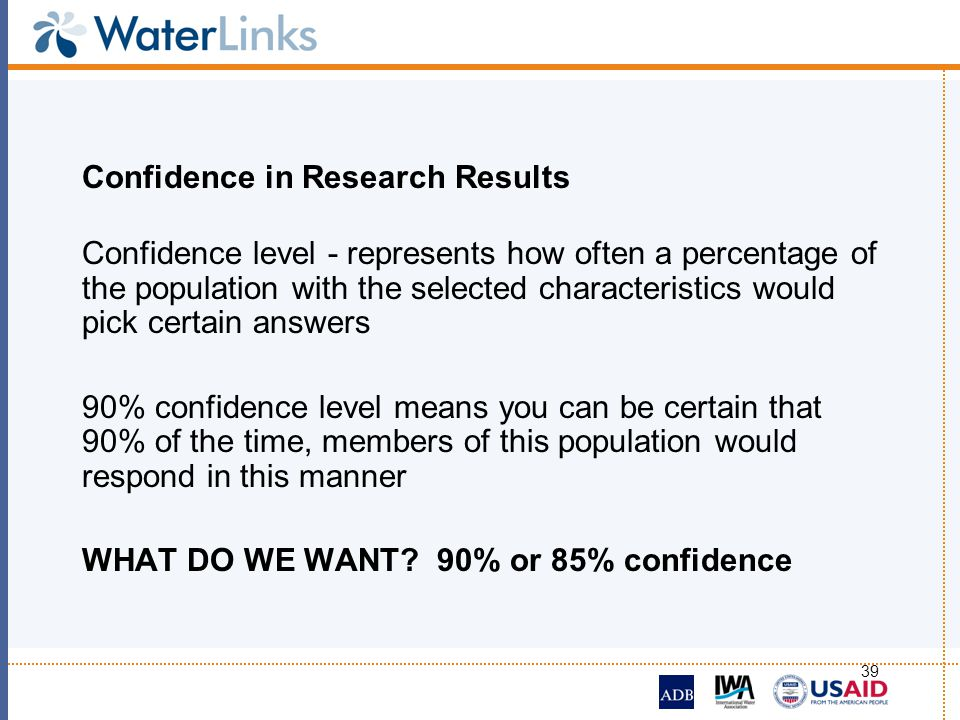 Confidence in Research Results