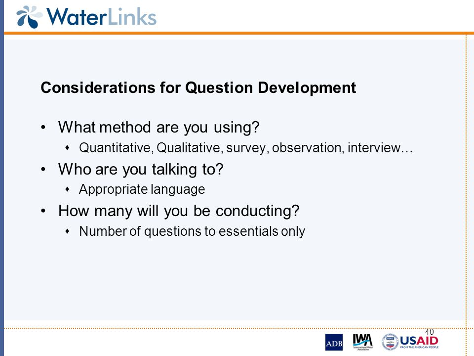 Considerations for Question Development
