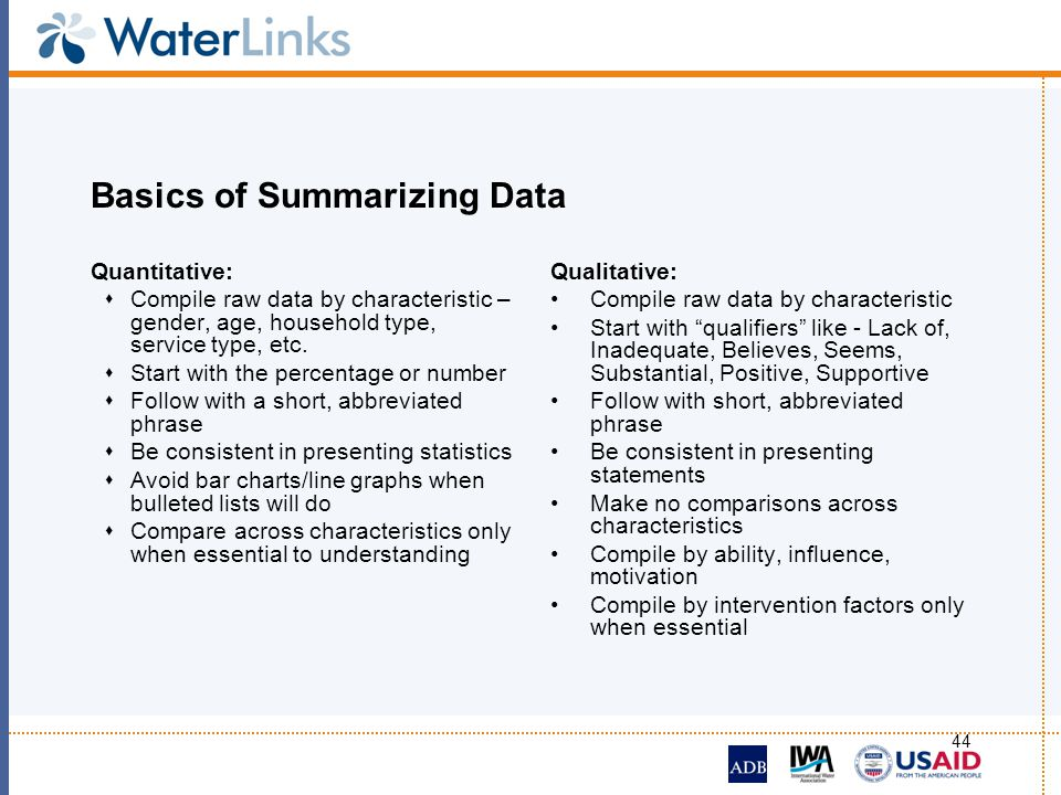 Basics of Summarizing Data