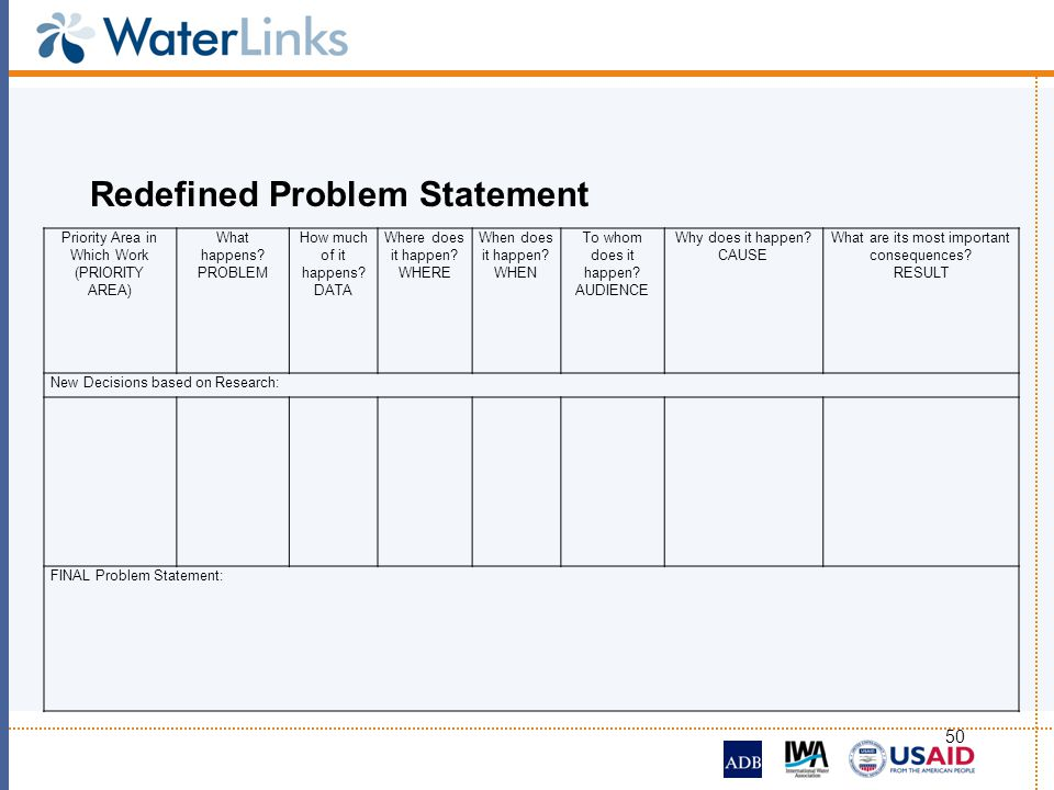 Redefined Problem Statement