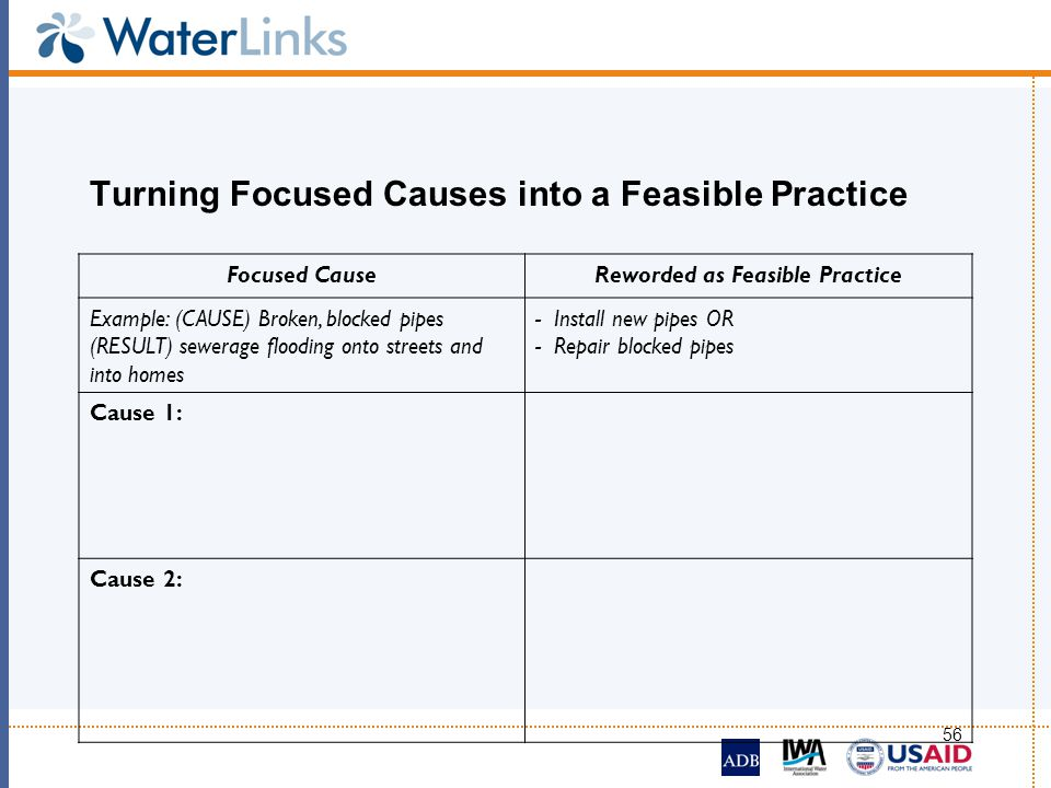 Turning Focused Causes into a Feasible Practice