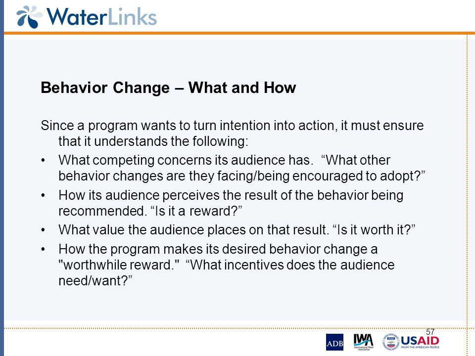 Behavior Change – What and How