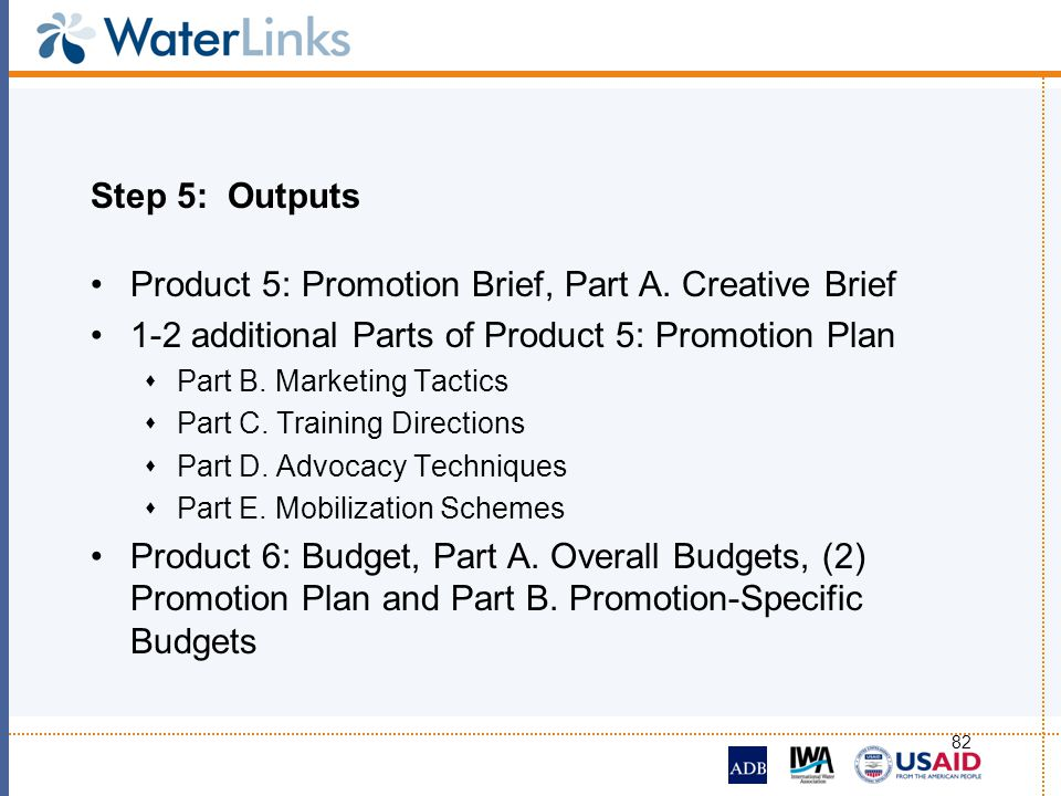 Product 5: Promotion Brief, Part A. Creative Brief