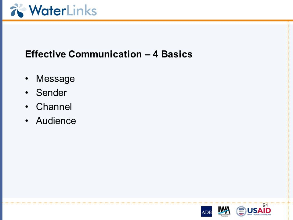 Effective Communication – 4 Basics