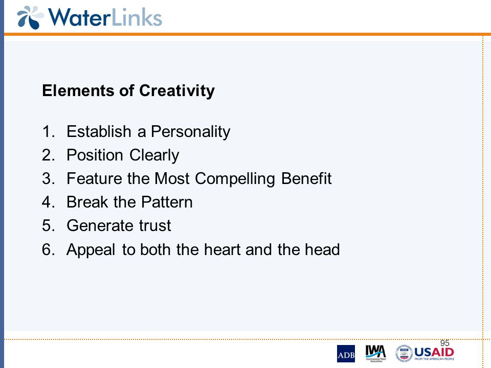 Elements of Creativity