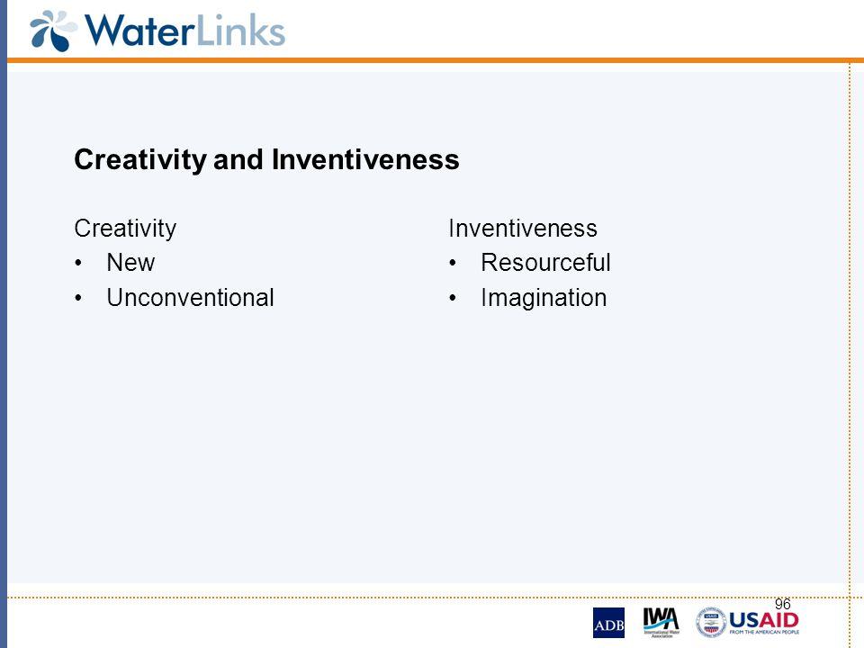 Creativity and Inventiveness